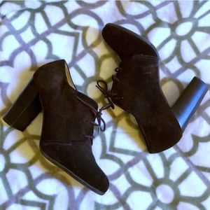 Talbots Leather Lace-up Booties